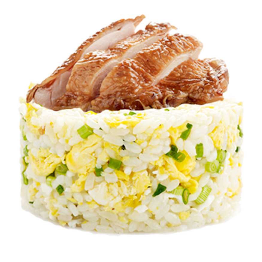 Egg Fried Rice with Grilled Chicken